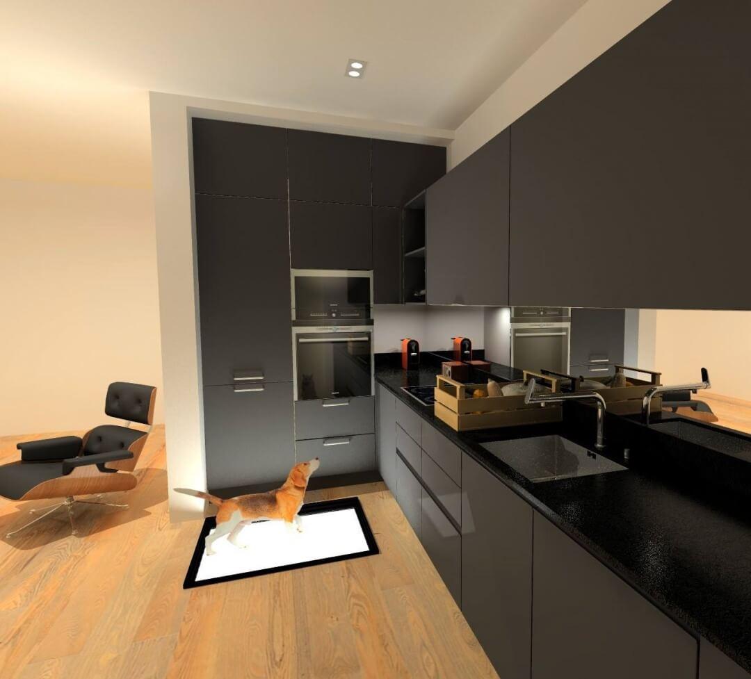 plan 3D cuisine design