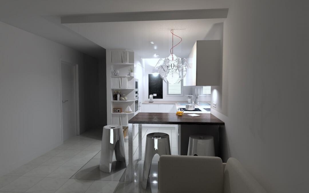 Plan 3D de cuisine