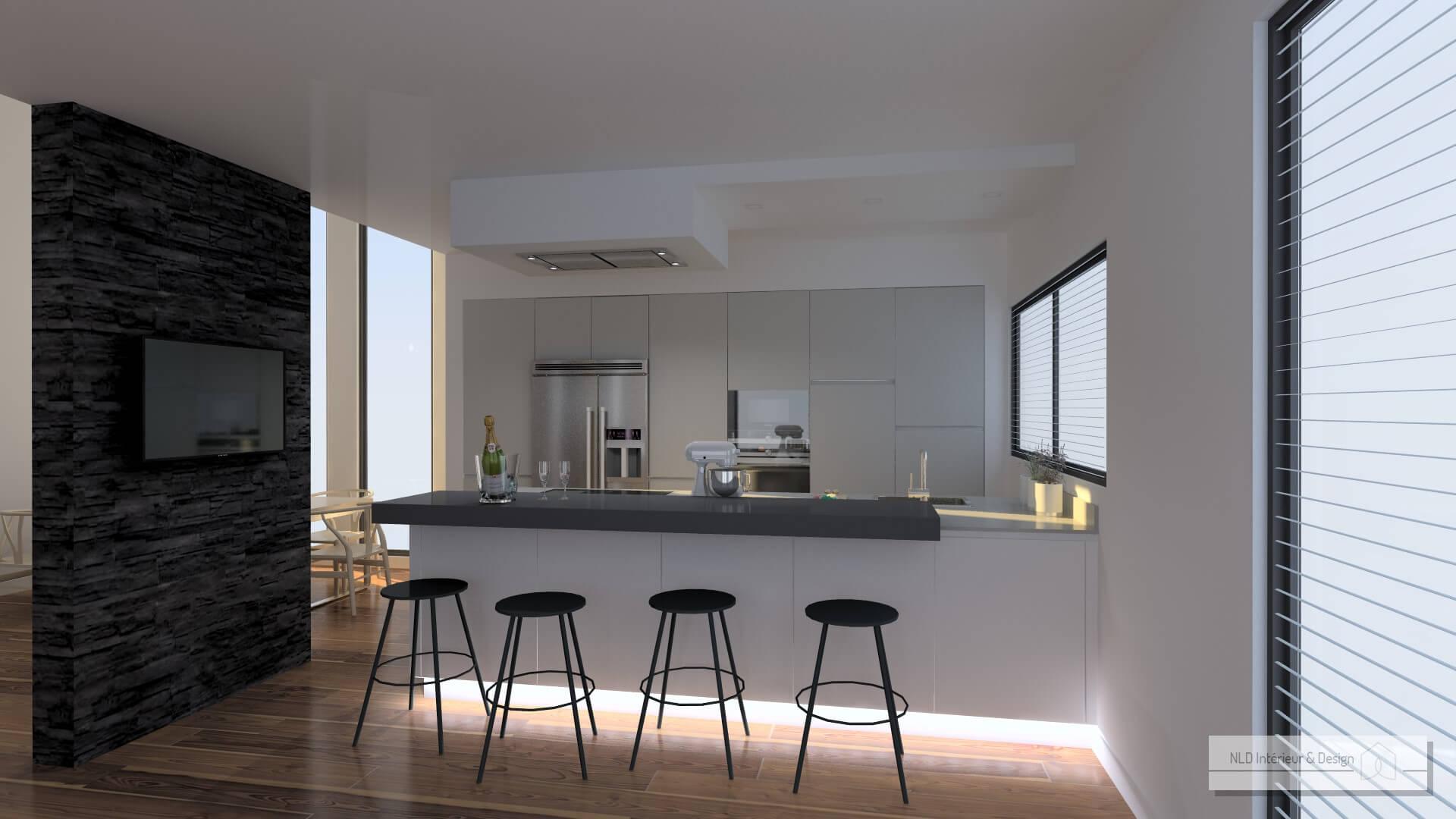 Architecte cuisine good cuisine en noir dote galement for Architecte cuisine