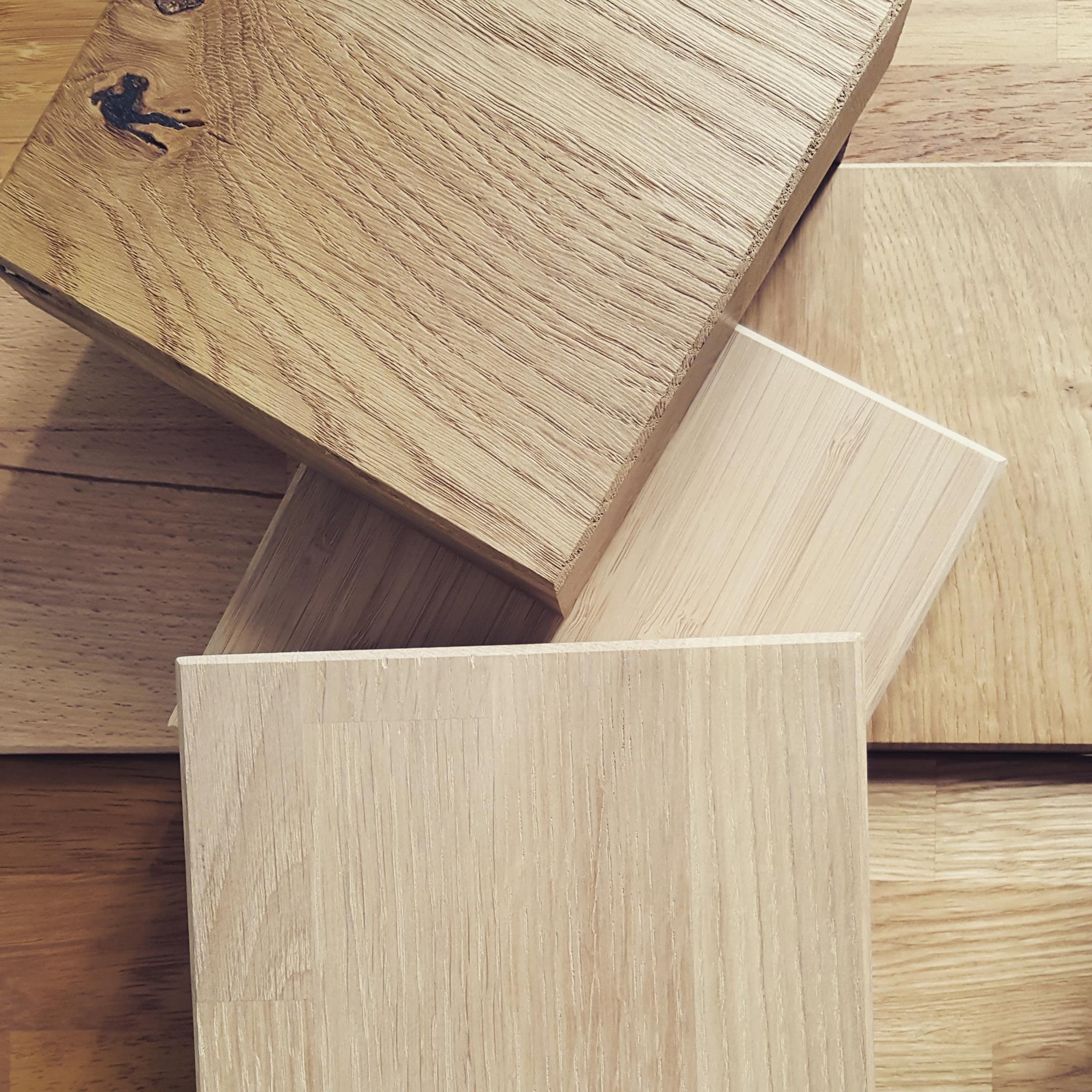plan de travail en bois laméllé collé